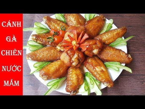 Comida vietnamita: Asas de frango frito com molho de peixe
