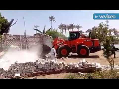 شاهد بالفيديو .. تكثيف أمني لإزالة التعديات على أراضي الآثار بميت رهينة