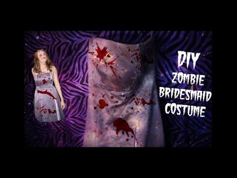 DIY Zombie Bridesmaid Dress Costume