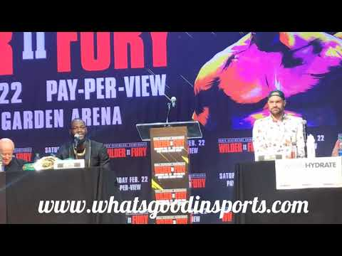 Wilder vs Fury II press conference- Boxers questions and answers in their initial press conference