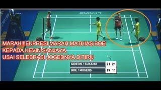 Video MARAH!!!EKPRESI MARAH MATHIAS BOE KEPADA KEVIN SANJAYA| FINAL TAHOE CHINA OPEN 2017 MP3, 3GP, MP4, WEBM, AVI, FLV Agustus 2018