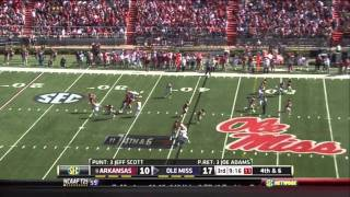 Joe Adams vs Ole Miss 2011