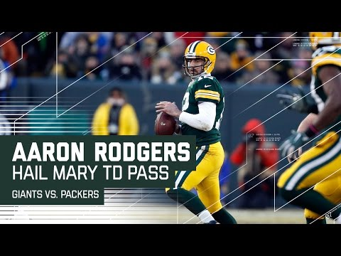 Aaron Rodgers Hail Mary Before Half! | Giants vs. Packers | NFL Wild Card Highlights (видео)