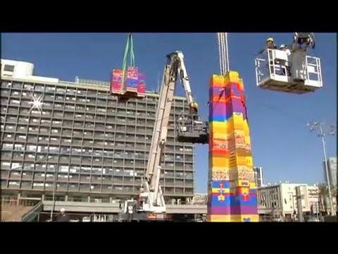 Τελ Αβίβ: Πύργος 36 μέτρων από Lego