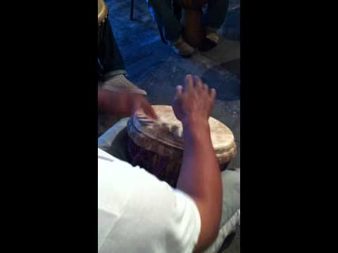 (Fred playing) Djembe Drum Solo