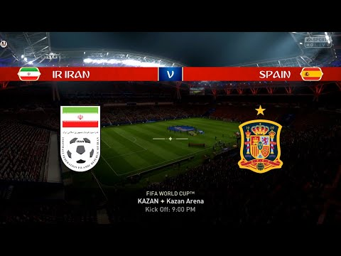 Spain Vs Iran World Cup Russia 2018 || FIFA 18 Gameplay