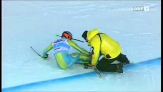 самые жёсткие падения горнолыжников 3
