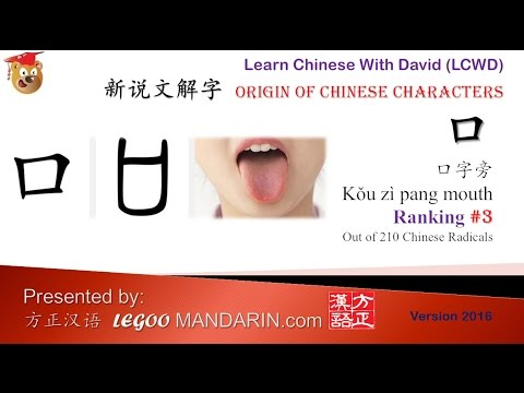 Origin of Chinese Characters - Chinese Radical 003 口字旁 - Learn Chinese with Flash Cards