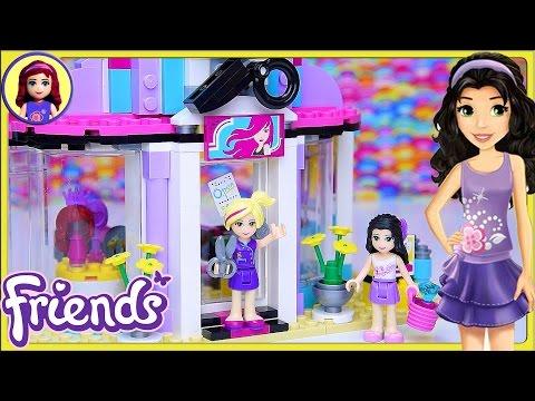 Lego Friends Hair Salon Set Build Review Play - Kids Toys