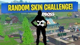 RANDOM SKIN CHALLENGE! (Fortnite Battle Royale)