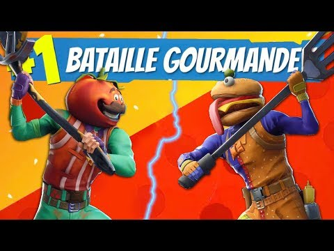 BATAILLE GOURMANDE : Burger VS Pizza Sur Fortnite !