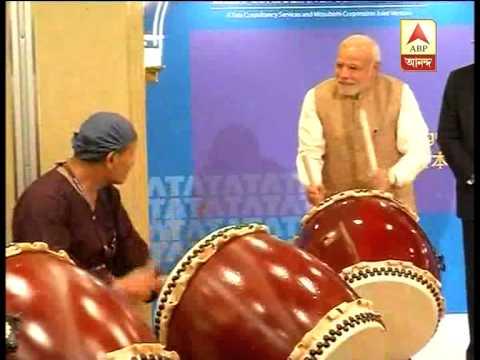 Modi beats Drum in Japan