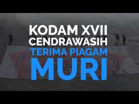 Kodam XVII/Cenderawasih Terima Piagam MURI