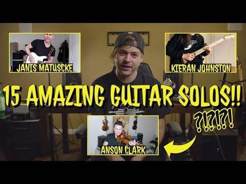 15 Amazing Guitar Solos!!