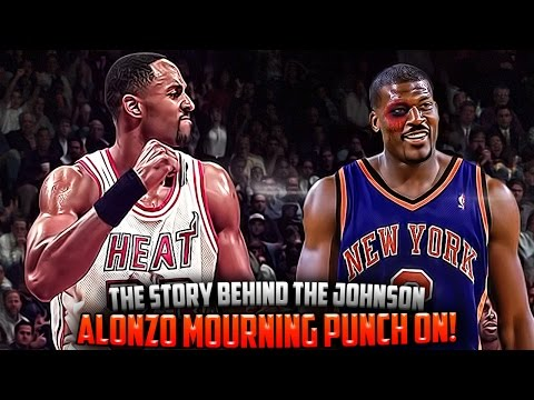 The Story Of The Alonzo Mourning & Larry Johnson PUNCH ON! (видео)