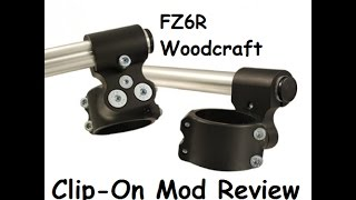 10. FZ6R Woodcraft Clip-On Review!