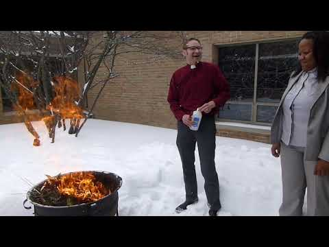Burning of Palm Leaves for Ash Wednesday - Feb 11, 2018