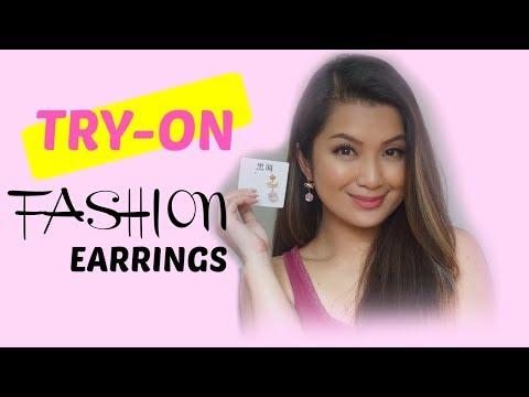 TRY-ON HAUL |  FASHION EARRINGS