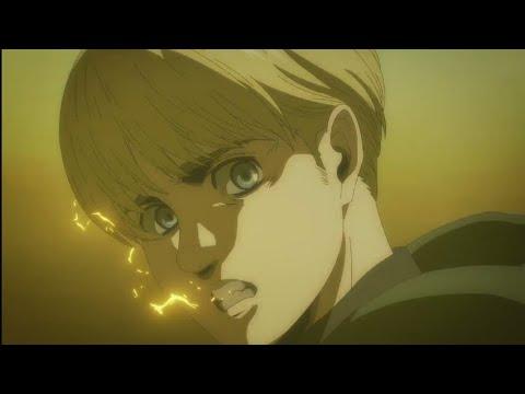 Armin transforms into Colossal titan   Assault   Attack on Titan season 4 episode 7