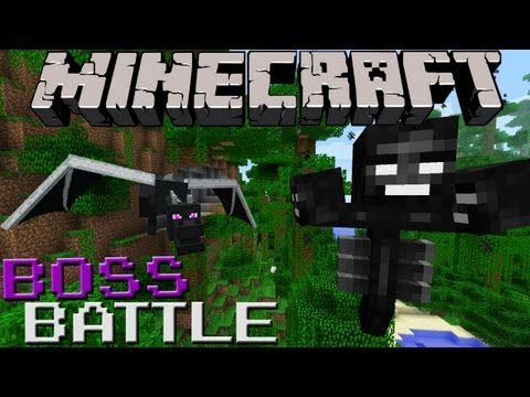Wither VS Ender Dragon (Minecraft Boss Battle!)