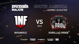 Infamous vs Gorillaz-Pride, EPICENTER Major 2019 SA Closed Quals , bo3, game 2 [Eiritel]