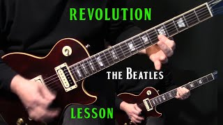 "Video how to play ""Revolution"" on guitar by The Beatles 