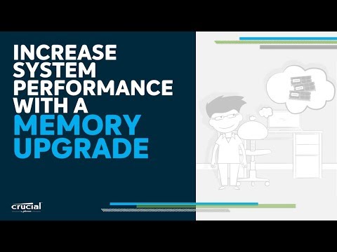 A memory upgrade is the easiest and most affordable way to improve performance
