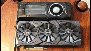 Today we review & compare the Nvidia Titan xp and the Asus ROG Strix GTX 1080 ti!Big thanks to http://www.playtech.co.nz for supporting me!Twitter: https://twitter.com/TechShowdownYTPatreon: https://www.patreon.com/TechShowdownMusic: https://soundcloud.com/lakeyinspired