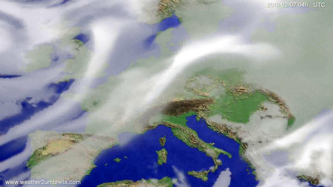 Cloud forecast Europe 2019-02-05