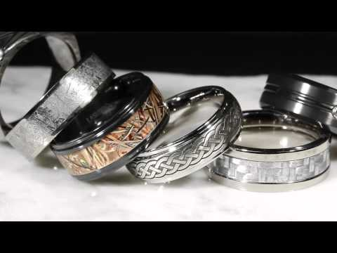 Men's Wedding Bands in Alternative Metals