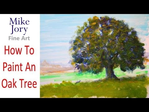 The Sunday Art Show - Oak Tree Painting Tutorial - Real Time