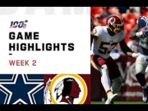 Redskins vs. Cowboys Week 2 Highlights   NFL 2019