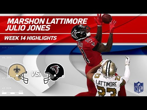 Video: The Battle of Julio Jones & Marshon Lattimore! | Saints vs. Falcons | Wk 14 Player Highlights