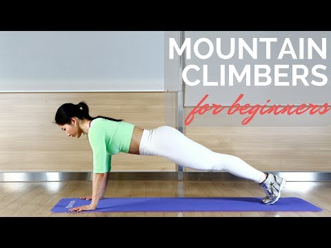 Mountain Climber Exercise for Beginners (видео)