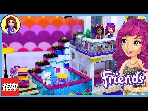 Lego Friends Livi's Pop Star House Set Build Review Play - Kids Toys