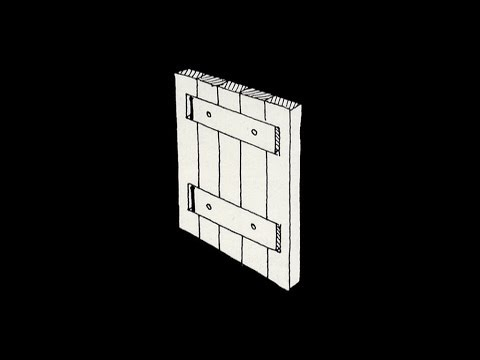 Flush 'floating' batten cabinet door construction