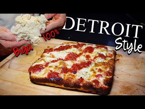My First Time! I made a DETROIT STYLE Pizza at Home with BIGA #withme