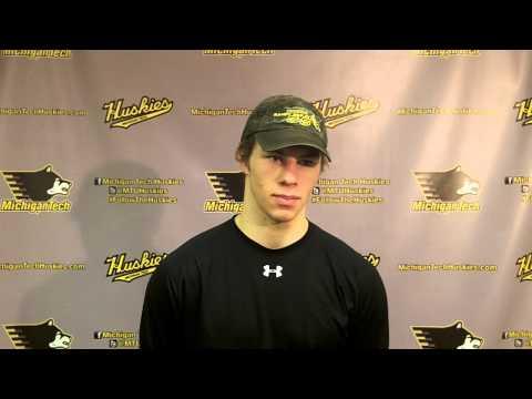 Blake Pietila Postgame Interview vs. Ferris State 1-24-14