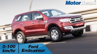 https://www.motorbeam.com tests the acceleration of the Ford Endeavour and compares it with its arch rival, the Toyota Fortuner. Both these SUVs are similar in many ways like both are underpinned by a body on frame platform and are powered by big displacement engines. The Endeavour is priced less than the Fortuner and gets more off-road tech.The Ford Endeavour and Toyota Fortuner compete with SUVs like the Volkswagen Tiguan and Isuzu MU-X in the Indian market. These vehicles are assembled locally via the CKD route and are available with multiple engine options.Become a #MotorBeamer: http://bit.ly/MotorBeamerVisit our website: https://www.motorbeam.comLike us on Facebook: https://www.facebook.com/MotorBeamFollow us on Instagram: http://www.instagram.com/MotorBeamAdd us on Snapchat: https://www.snapchat.com/add/MotorBeamFollow us on Twitter: https://www.twitter.com/MotorBeamCheck us out on Pinterest: https://www.pinterest.com/motorbeam+1 us on Google Plus: https://plus.google.com/+motorbeamMusic Credit - https://www.youtube.com/watch?v=Ma18w-tuj3U