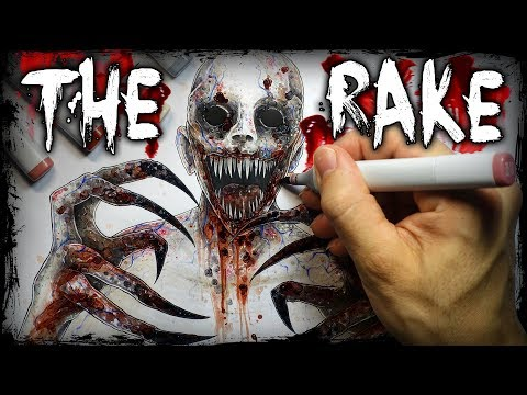 "The ""RAKE"" Creepypasta Story + Drawing (Scary Horror Stories)"