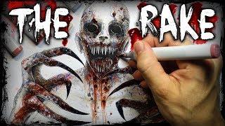 """The """"RAKE"""" Creepypasta Story + Drawing (Scary Horror Stories)"""