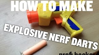 in this video we are making explosive darts for your nerf gun using some common household items.thanks for watching and please like & subscribe for more