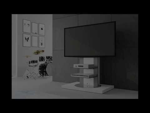 Praktische, moderne und hochwertige TV Möbel in Hochglanz 360 Grad drehbar TV Ständer H-777
