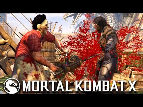 "BRUTALITY HUNTING WITH LEATHERFACE! - Mortal Kombat X: ""Leatherface"" Gameplay"