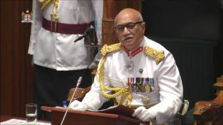 Fijian President H.E.Major-General (Ret'd) Jioji Konousi Konrote's address at the official opening of 2016 - 2017 Parliament ...