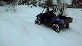 9. Tölzer Q-Riders Kymco UXV 500 Schnee trail