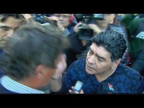 Diego Maradona caught on camera slapping a journalist