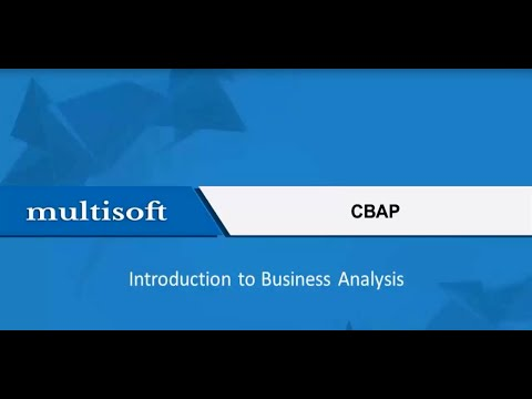 CBAP Business Analysis Planning and Monitoring Training