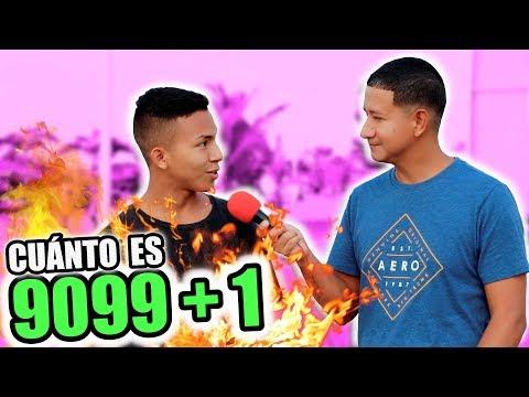 ¿Cuánto es 9099 + 1? | PREGUNTAS CAPCIOSAS EN ESMERALDAS