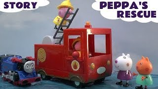 Peppa Pig Story Thomas & Friends Play Doh Hello Kitty Fire Engine Search and Rescue Playdough